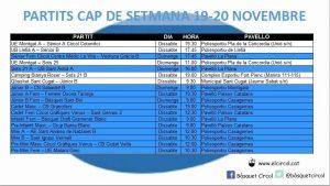 L'Agenda (19-20 de novembre)