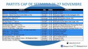 L'Agenda (26-27 de novembre)