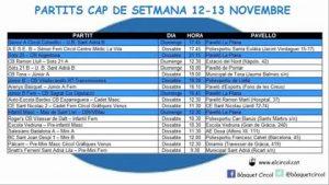 L'Agenda (12-13 de novembre)