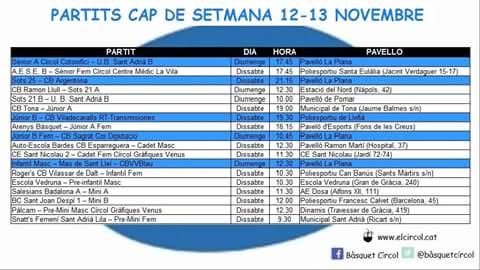 Agenda 12-13 novembre