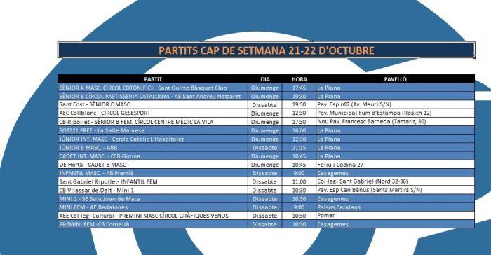 Agenda 21-22 d'octubre