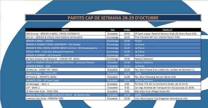 Agenda 28-29 d'octubre