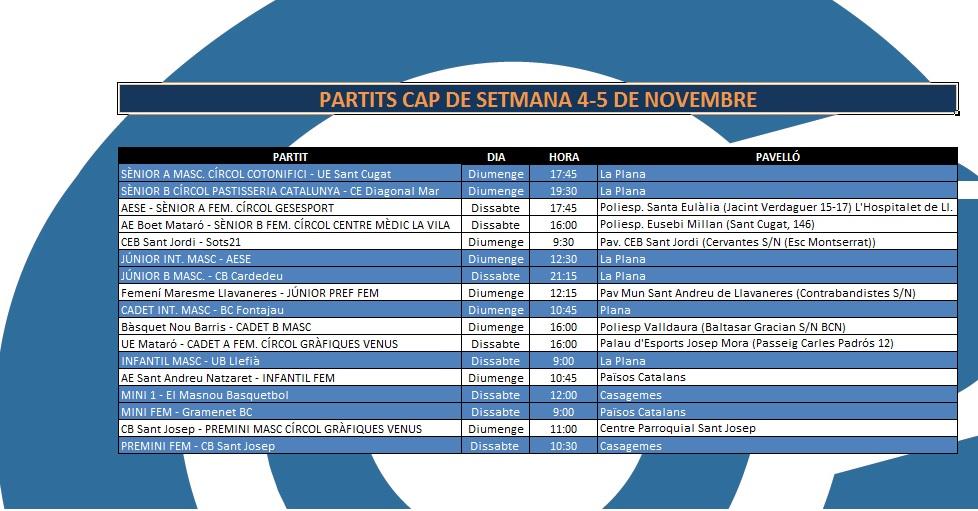 L'Agenda (4-5 de novembre)
