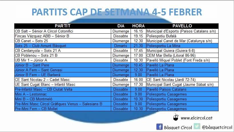 Agenda 4-5 de febrer